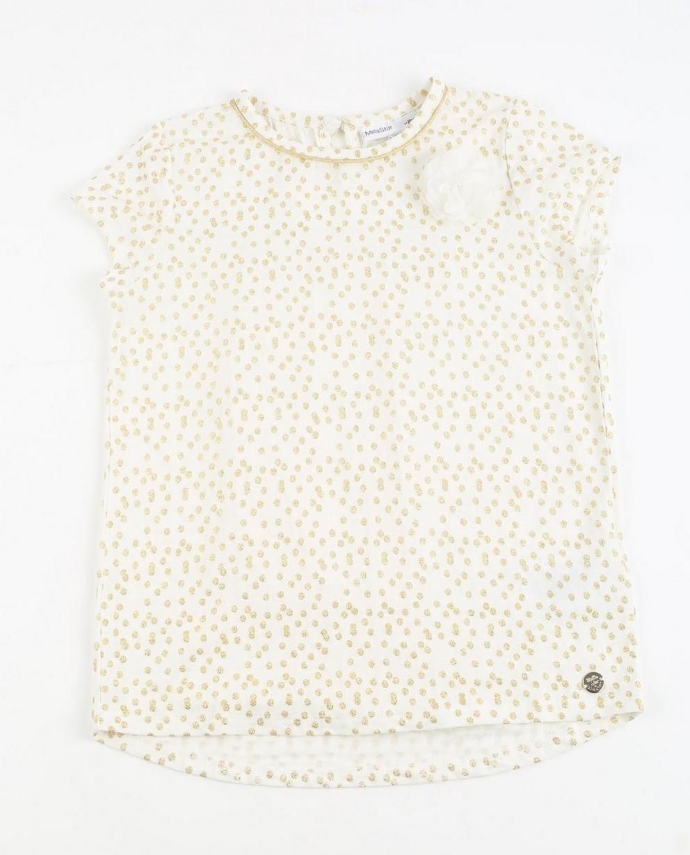 Zartes T-Shirt - mit goldfarbenem Pünktchenprint - JBC